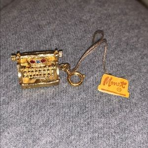 Vintage Brand New Monet Typewriter Charm